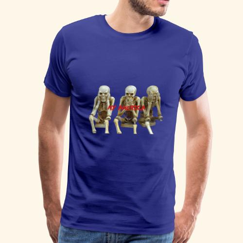 My America See No Evil Skeletons - Men's Premium T-Shirt