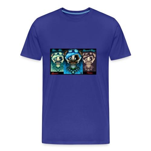 dan the diamond dog dantdm fnaf crossover by cin - Men's Premium T-Shirt