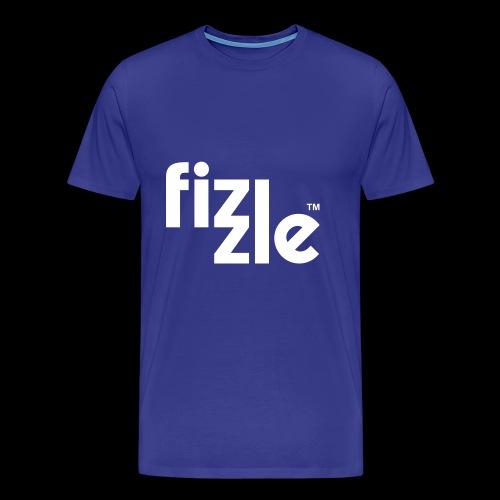 WearFizzle Logo White - Men's Premium T-Shirt
