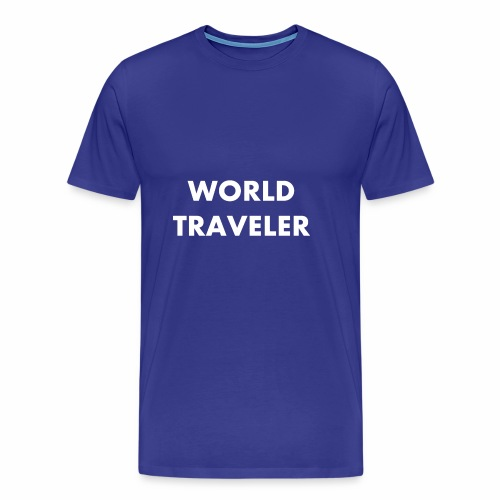 World Traveler White Letters - Men's Premium T-Shirt