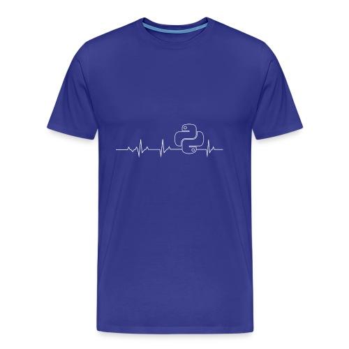 Python Heartbeat T-shirt Hoodie - Men's Premium T-Shirt