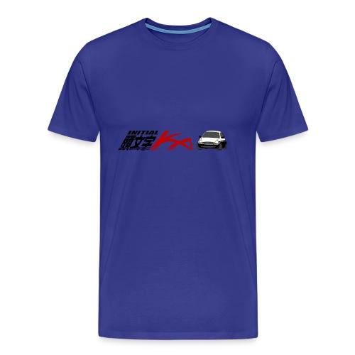 Initial Ka (Black writing) - Initial D parody - Men's Premium T-Shirt