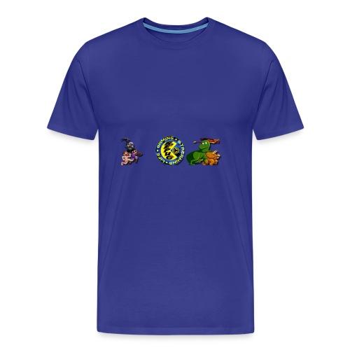 Pug Pac Attack! - Men's Premium T-Shirt