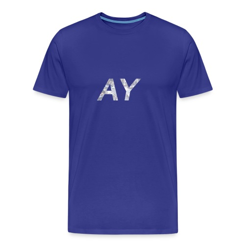Ay White Diamond - Men's Premium T-Shirt