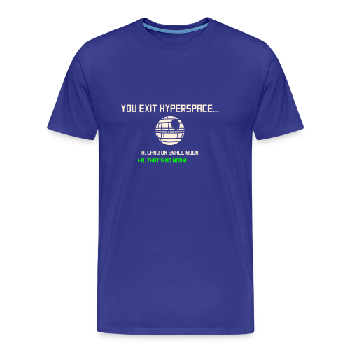 That's no moon - Men's Premium T-Shirt