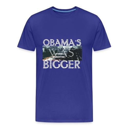 Obama's Was Bigger - Men's Premium T-Shirt