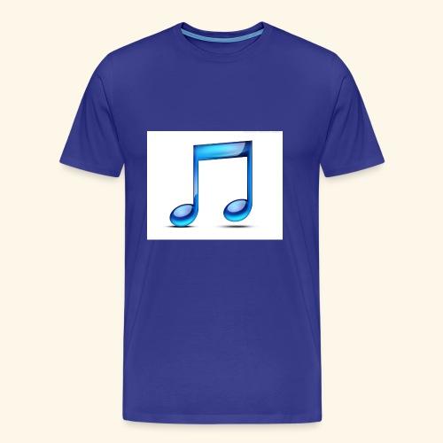 music note icon - Men's Premium T-Shirt