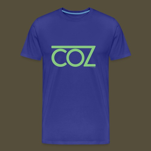 coz_logo_lightgreen - Men's Premium T-Shirt