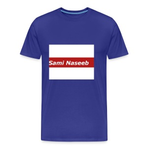 sami Naseeb red color texet - Men's Premium T-Shirt