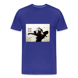 Grisly Crime Scene man shot - Men's Premium T-Shirt