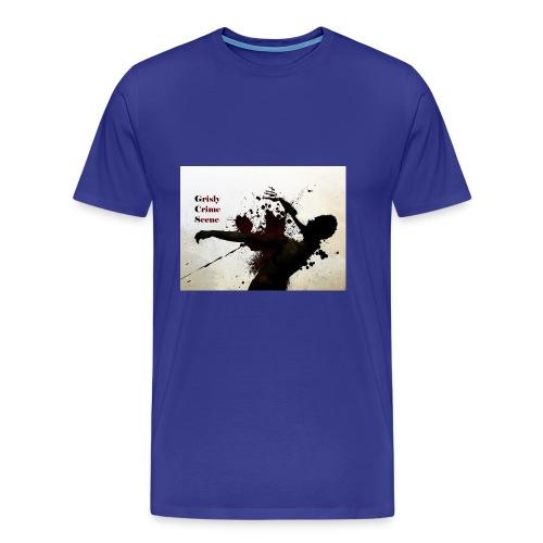 Grisly Crime Scene man shot - Men's Premium T-Shirt
