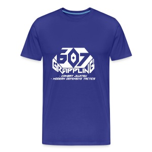 607 Grappling Logo White - Men's Premium T-Shirt