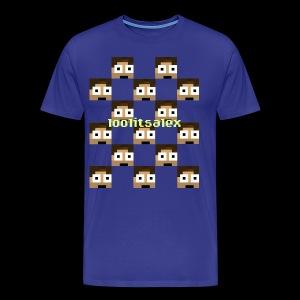 loolitsalex checker logo - Men's Premium T-Shirt