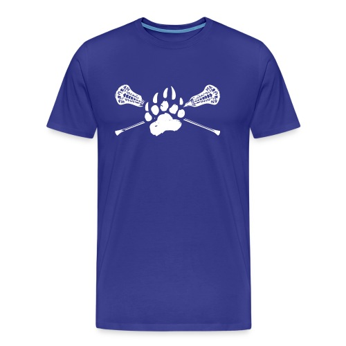 Kodiak Lacrosse Paw Stick 2018 WHITE - Men's Premium T-Shirt