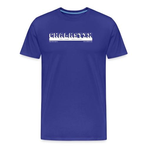 chalkstix logo WHITE - Men's Premium T-Shirt