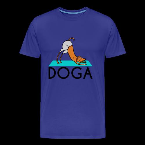 Doga (Dog Yoga) - Men's Premium T-Shirt