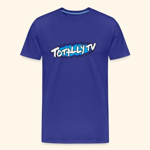 Totally TV Burst Logo Blue on Blue - Men's Premium T-Shirt