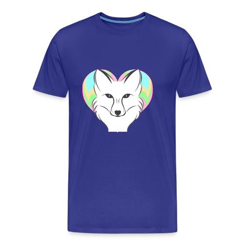 Fire Heart Fox - Men's Premium T-Shirt