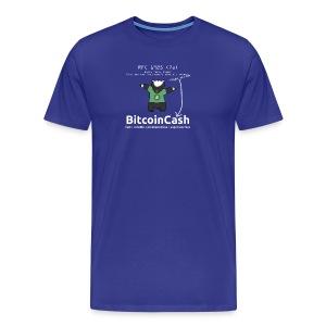 Bitcoin Cash RFC 1925 (7a) Green logo - Men's Premium T-Shirt