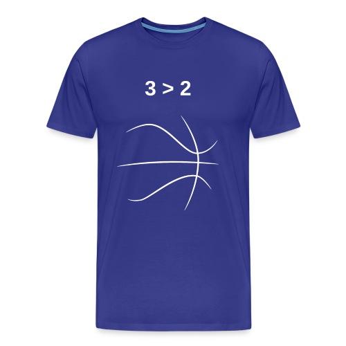 3 > 2 Basketball - Men's Premium T-Shirt