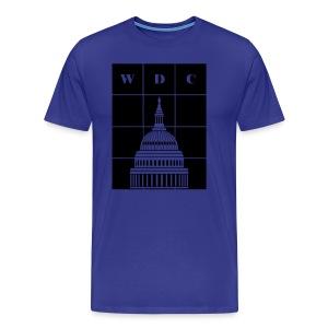 Washington, DC (WDC) and USA Capitol Building Dome - Men's Premium T-Shirt
