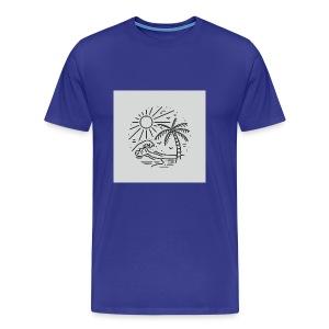 Palm tree clear wave tshirt - Men's Premium T-Shirt
