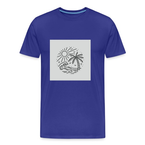 Palm tree clear wave tshirt - Men's Premium T-Shirt
