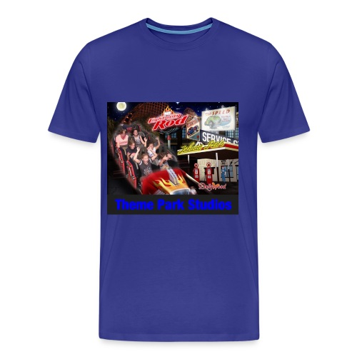 Themeparkstudios on lightning rod and lr pin - Men's Premium T-Shirt