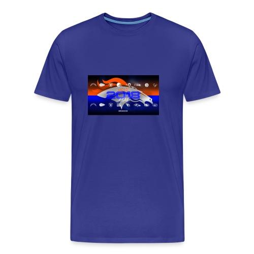2018 Broncos Schedule - Men's Premium T-Shirt