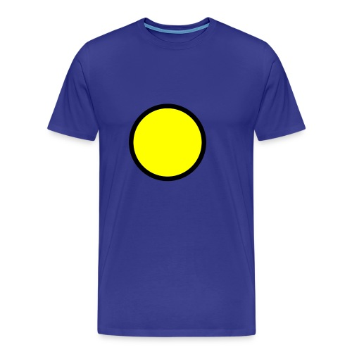 Circle yellow svg - Men's Premium T-Shirt