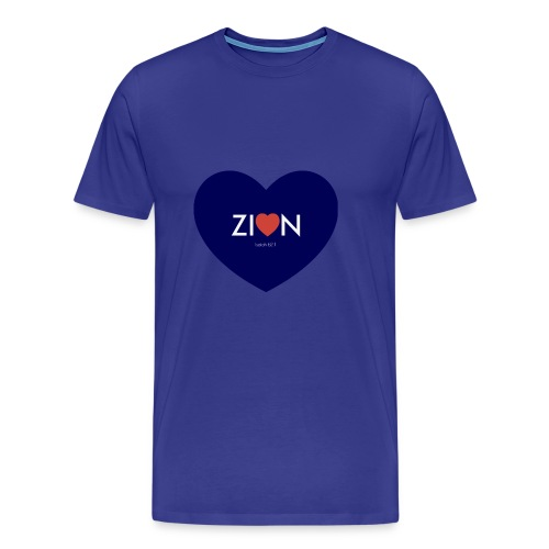 Zion in my heart/ I Won't Keep Silent - Men's Premium T-Shirt