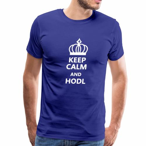 Keep Calm HODL - Men's Premium T-Shirt
