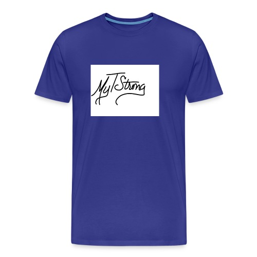 MyTStrong_Script - Men's Premium T-Shirt