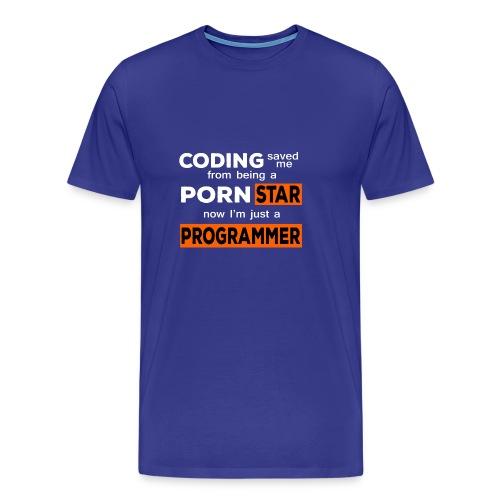Pornstar To Coding - Men's Premium T-Shirt