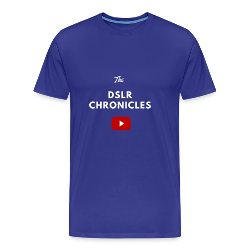 The DSLR Chronicles Tee (white letters) - Men's Premium T-Shirt