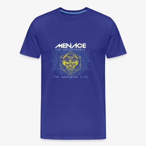 Menace white letters - Men's Premium T-Shirt