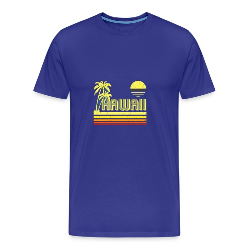 T Shirt Vintage Hawaii distressed look - Men's Premium T-Shirt