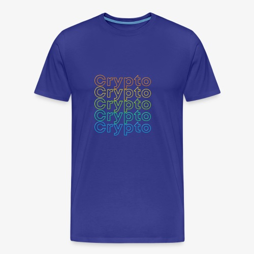 Crypto Neon Design - Men's Premium T-Shirt