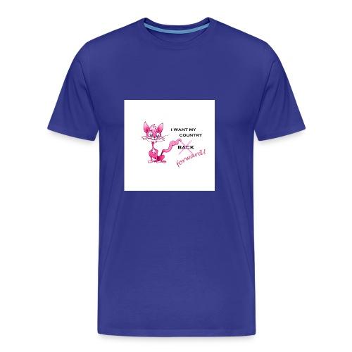 pink pussy forward tee - Men's Premium T-Shirt