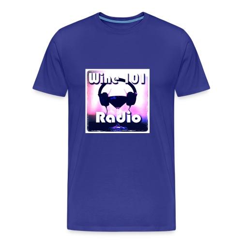 Wine 101 Radio Logo - Men's Premium T-Shirt