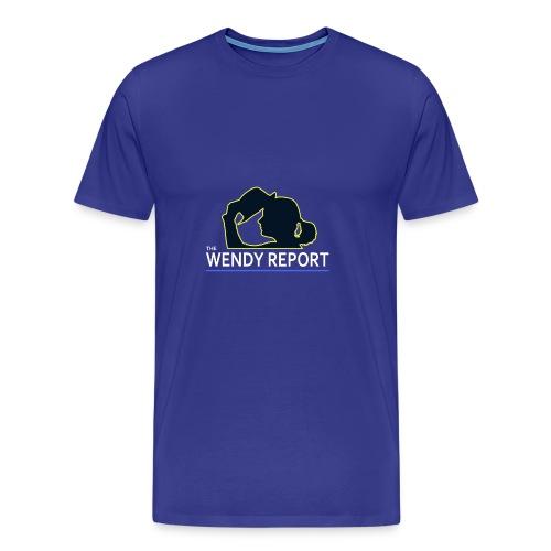 The Wendy Report Logo - White - Men's Premium T-Shirt