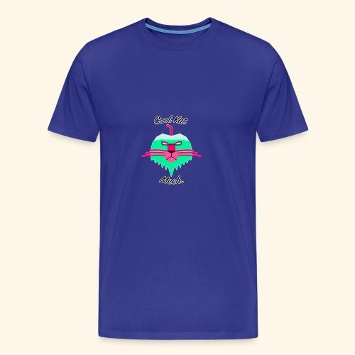 Cool Kat Mech. (Neon Glow) - Men's Premium T-Shirt