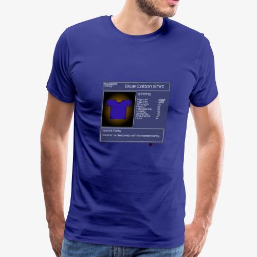 Gamer StatGear Blue Cotton Shirt - Men's Premium T-Shirt