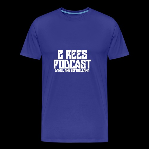 2 REES Podcast Logo (White) - Men's Premium T-Shirt