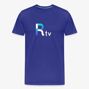 Rtv logo blanco - Men's Premium T-Shirt