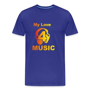 Blackprince LOVE FOR MUSIC - Men's Premium T-Shirt