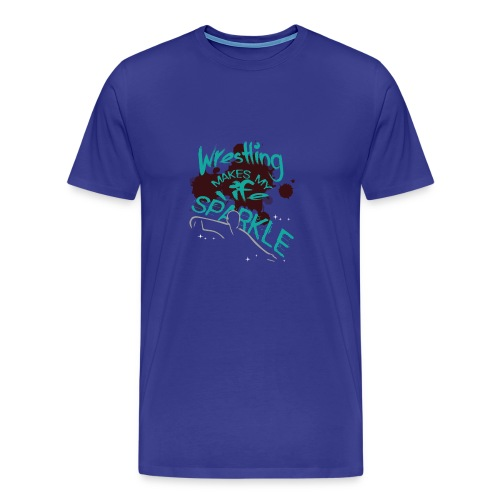 Wrestling Makes My Life Sparkle - Men's Premium T-Shirt
