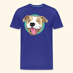 Cute Pitbull Pet Dog - Men's Premium T-Shirt