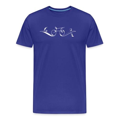 Swim Bike Run - Classy - Men's Premium T-Shirt