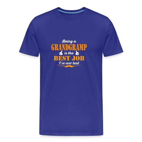 Being Grandgramp is best job ever - Men's Premium T-Shirt